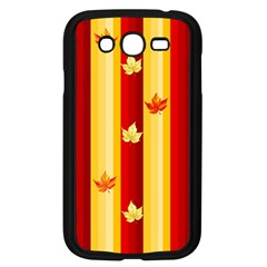 Autumn Fall Leaves Vertical Samsung Galaxy Grand Duos I9082 Case (black) by Celenk