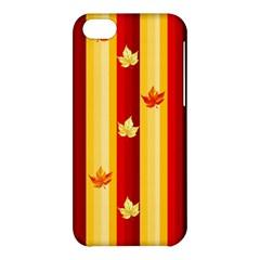 Autumn Fall Leaves Vertical Apple Iphone 5c Hardshell Case by Celenk