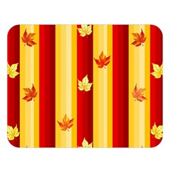 Autumn Fall Leaves Vertical Double Sided Flano Blanket (large)  by Celenk