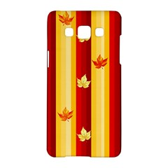 Autumn Fall Leaves Vertical Samsung Galaxy A5 Hardshell Case  by Celenk