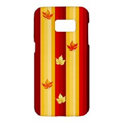Autumn Fall Leaves Vertical Samsung Galaxy S7 Hardshell Case  by Celenk