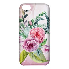 Flowers And Leaves In Soft Purple Colors Apple Iphone 5c Hardshell Case by FantasyWorld7