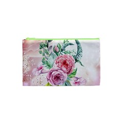 Flowers And Leaves In Soft Purple Colors Cosmetic Bag (xs) by FantasyWorld7