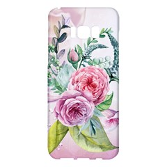 Flowers And Leaves In Soft Purple Colors Samsung Galaxy S8 Plus Hardshell Case  by FantasyWorld7