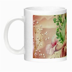 Flowers And Leaves In Soft Purple Colors Night Luminous Mugs by FantasyWorld7