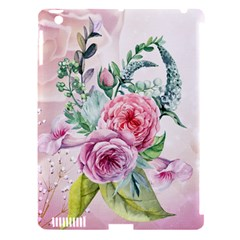 Flowers And Leaves In Soft Purple Colors Apple Ipad 3/4 Hardshell Case (compatible With Smart Cover) by FantasyWorld7