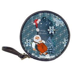 Funny Santa Claus With Snowman Classic 20 Cd Wallets by FantasyWorld7
