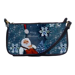 Funny Santa Claus With Snowman Shoulder Clutch Bags by FantasyWorld7