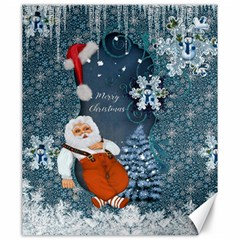 Funny Santa Claus With Snowman Canvas 20  X 24   by FantasyWorld7