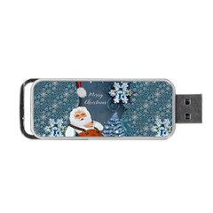 Funny Santa Claus With Snowman Portable Usb Flash (two Sides) by FantasyWorld7