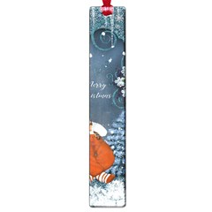 Funny Santa Claus With Snowman Large Book Marks by FantasyWorld7
