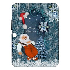 Funny Santa Claus With Snowman Samsung Galaxy Tab 3 (10 1 ) P5200 Hardshell Case  by FantasyWorld7