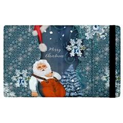 Funny Santa Claus With Snowman Apple Ipad Pro 9 7   Flip Case by FantasyWorld7