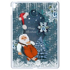 Funny Santa Claus With Snowman Apple Ipad Pro 9 7   White Seamless Case by FantasyWorld7