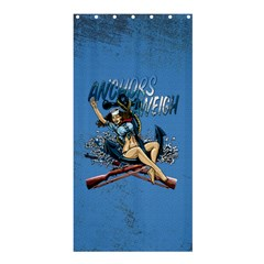Navy Anchor s Aweigh Pinup Girl Shower Curtain 36  X 72  (stall)  by allthingseveryday