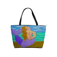 Purple Mermaid Large Handbag Shoulder Handbags by paintedpurses