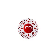 Monogram Heart Pattern Love Red 1  Mini Magnets