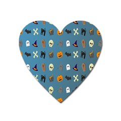 Halloween Cats Pumpkin Pattern Bat Heart Magnet by Celenk