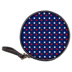 Patriotic Red White Blue Stars Blue Background Classic 20 Cd Wallets by Celenk