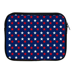 Patriotic Red White Blue Stars Blue Background Apple Ipad 2/3/4 Zipper Cases by Celenk