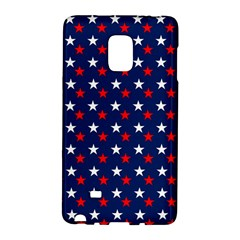 Patriotic Red White Blue Stars Blue Background Galaxy Note Edge by Celenk