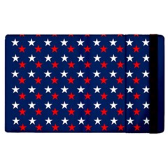 Patriotic Red White Blue Stars Blue Background Apple Ipad Pro 12 9   Flip Case by Celenk