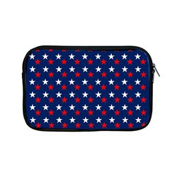 Patriotic Red White Blue Stars Blue Background Apple Macbook Pro 13  Zipper Case by Celenk