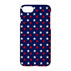 Patriotic Red White Blue Stars Blue Background Apple Iphone 8 Hardshell Case by Celenk