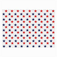 Patriotic Red White Blue Stars Usa Large Glasses Cloth by Celenk