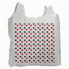 Patriotic Red White Blue Stars Usa Recycle Bag (one Side) by Celenk