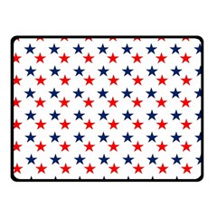 Patriotic Red White Blue Stars Usa Fleece Blanket (small) by Celenk