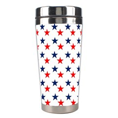Patriotic Red White Blue Stars Usa Stainless Steel Travel Tumblers by Celenk