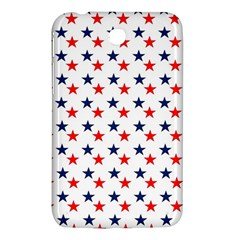 Patriotic Red White Blue Stars Usa Samsung Galaxy Tab 3 (7 ) P3200 Hardshell Case  by Celenk