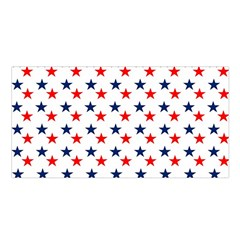 Patriotic Red White Blue Stars Usa Satin Shawl by Celenk