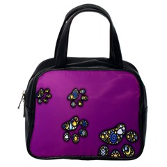 Footprints Paw Animal Track Foot Classic Handbags (one Side) by Celenk