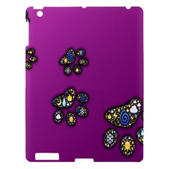 Footprints Paw Animal Track Foot Apple Ipad 3/4 Hardshell Case by Celenk