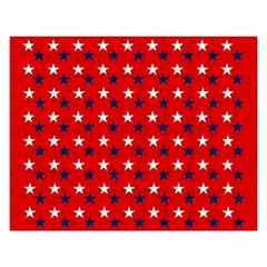 Patriotic Red White Blue Usa Rectangular Jigsaw Puzzl by Celenk