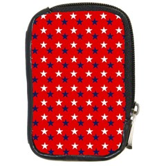 Patriotic Red White Blue Usa Compact Camera Cases by Celenk