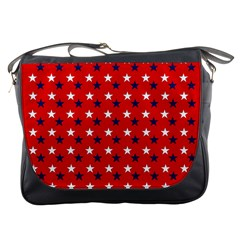 Patriotic Red White Blue Usa Messenger Bags by Celenk