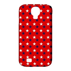 Patriotic Red White Blue Usa Samsung Galaxy S4 Classic Hardshell Case (pc+silicone) by Celenk