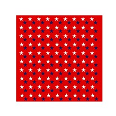 Patriotic Red White Blue Usa Small Satin Scarf (square) by Celenk