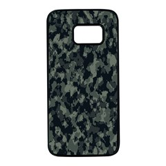 Camouflage Tarn Military Texture Samsung Galaxy S7 Black Seamless Case by Celenk
