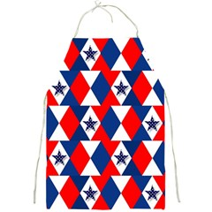 Patriotic Red White Blue 3d Stars Full Print Aprons