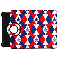 Patriotic Red White Blue 3d Stars Kindle Fire Hd 7  by Celenk