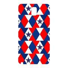 Patriotic Red White Blue 3d Stars Samsung Galaxy Note 3 N9005 Hardshell Back Case by Celenk
