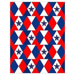 Patriotic Red White Blue 3d Stars Drawstring Bag (large) by Celenk