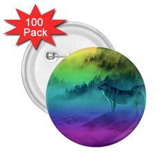 Yellowstone Wolfs Sunset 2 25  Buttons (100 Pack)  by PodArtist