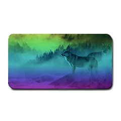 Yellowstone Wolfs Sunset Medium Bar Mats by PodArtist