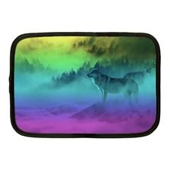 Yellowstone Wolfs Sunset Netbook Case (medium)  by PodArtist