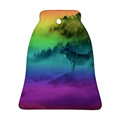 Yellowstone Wolfs Sunset Bell Ornament (two Sides) by PodArtist